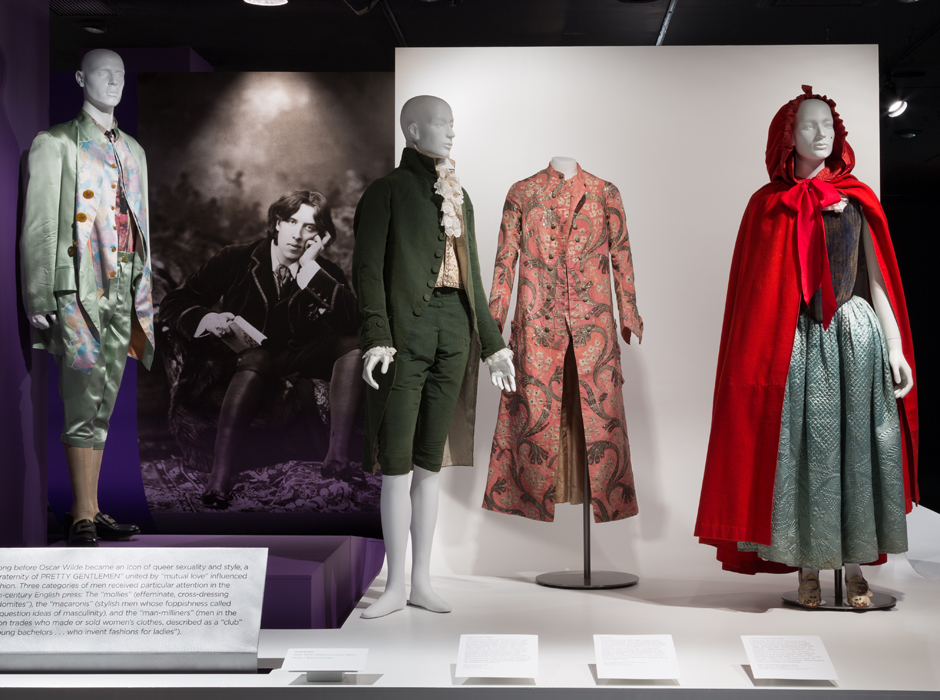 Queer History of Fashion installation