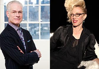 Tim Gunn and Valerie Steele